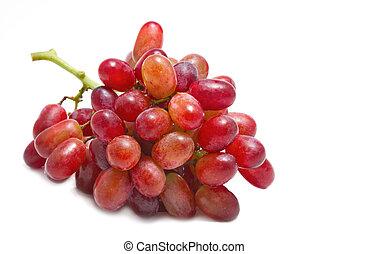 fresco, vermelho, uvas