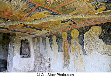 Frescoes in Rock-Hewn Churches of Ivanovo In the valley of...