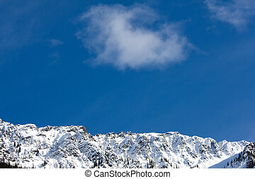 Fresh air with cloud over mountains