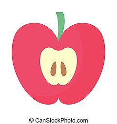fresh and delicious apple on white background