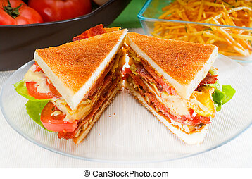 club sandwich - fresh and delicious classic club sandwich ...