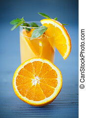 fresh and fruity brew with oranges