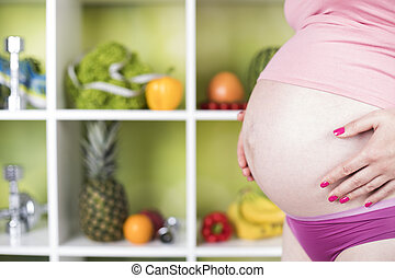 Fresh and healthy food for my baby, Pregnancy concept