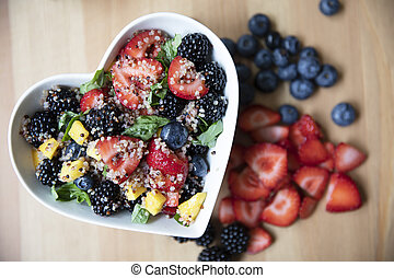 Fresh and Healthy Quinoa Fruit Salad