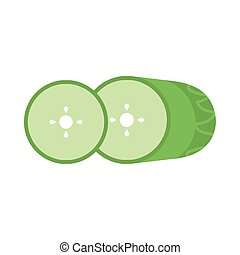 fresh and healthy vegetable, cucumber on white background