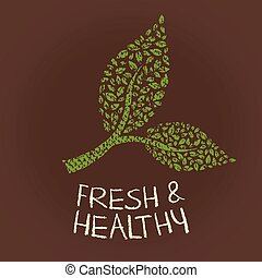 Fresh and healthy vegetables logo. Vector graphic design