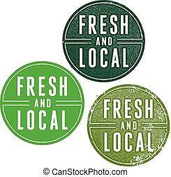Fresh and Local Food Products - Vintage style fresh and...