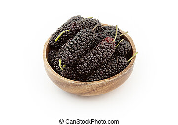 fresh and ripe mulberries background