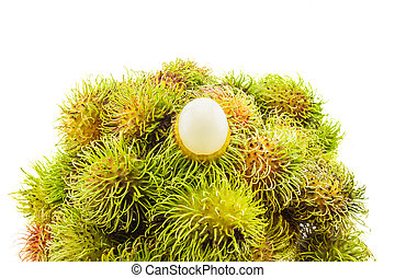 Fresh and ripe rambutans