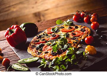 Fresh and tasty pizza i ready to eat