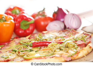Fresh and tasty pizza