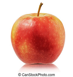 Fresh apple isolated on white background. Close up of apple with clipping path.