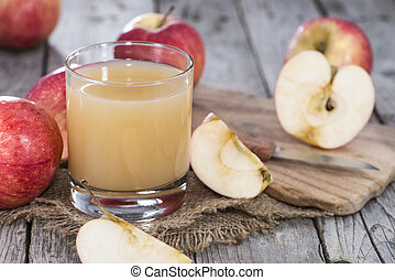 Apple Juice - Fresh Apple Juice with fruits