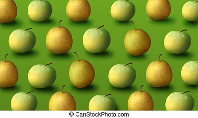 Fresh apples and pears - Colorful fruit pattern of fresh...