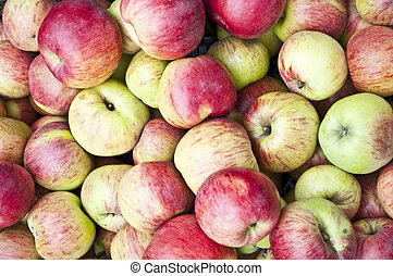 Fresh apples background - can be used as wallpaper