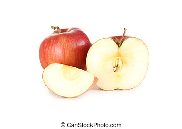 Fresh apples isolated on a white