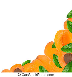 Fresh apricot background