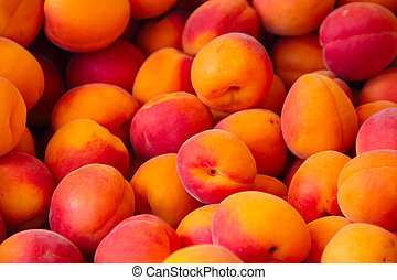Apricots in a market