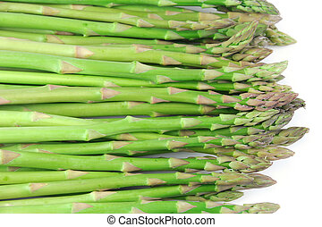 fresh asparagus isolated on white background