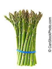 fresh asparagus isolated on white