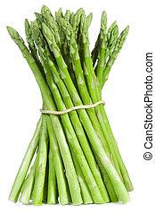 asparagus - fresh asparagus on white background