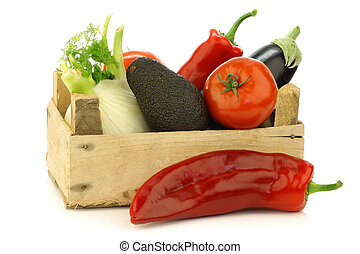 fresh assorted vegetables