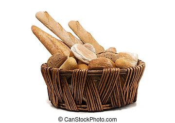 Fresh Assortment of baked bread varieties