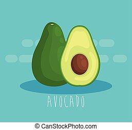 fresh avocado fruit organic nutrition