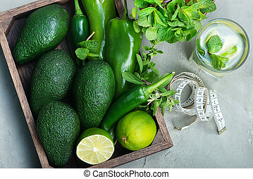 avocado - fresh avocado in box and on a table