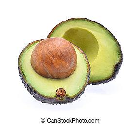 fresh avocado isolated on white background