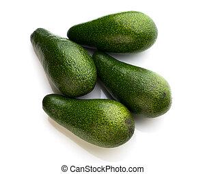 fresh avocados isolated on white