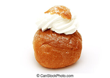 fresh bake roll with a cream