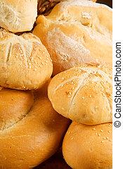 Fresh baked bread rolls