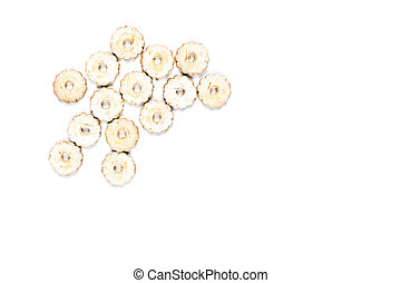 Fresh baked cookies on white background
