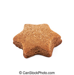 Fresh baked ginger cookie isolated