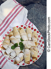 Fresh baked home croissants