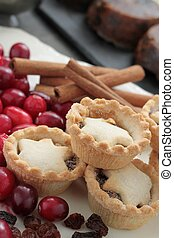 mince pies - fresh baked mince pies