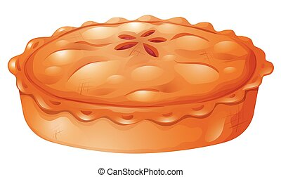 Fresh baked of pot pie illustration