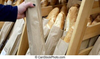 Fresh baked supermarket - Choose fresh baked goods in the...