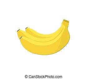 Fresh banana fruit isolated vector icon