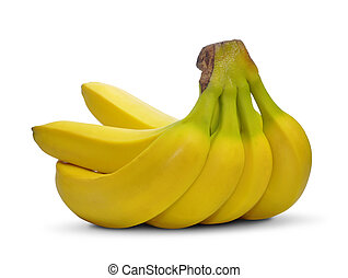fresh banana fruits isolated on white background