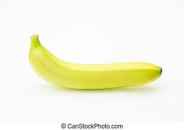 Fresh banana, on white background.