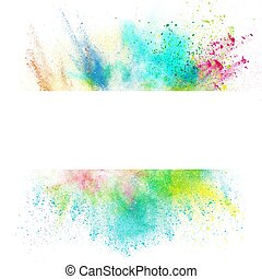 Fresh banner with colorful splash effect on white background