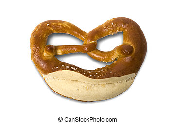 fresh Bavarian pretzel for breakfast