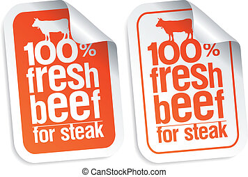 Fresh beef stickers