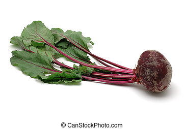 Fresh beet root in isolated white background