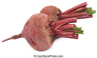 Fresh Beet over white background