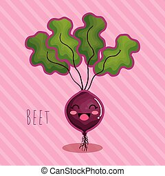 fresh beet vegetable character