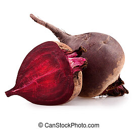 beetroot - Fresh beetroot isolated on white