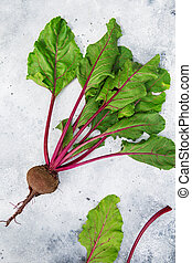 Fresh beetroot with leaves. Healthy food. Beetroots. Organic...